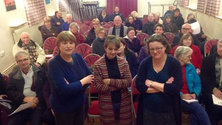 Residents at Marlingford Village Hall gathered to oppose proposals for the Easton Food Enterprise Zo