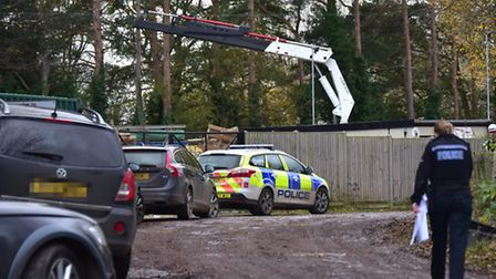 Police at an incident in Frettenham in 2015 where Gary Henry was electrocuted. Picture: ANTONY KELLY