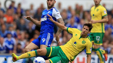 Norwich City's Timm Klose is a key figure again at the back. Photo: Nigel French/PA Wire.