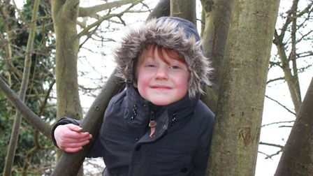 Four-year-old Erpingham Primary pupil Felix making the most of the facilities at a new outdoor-based