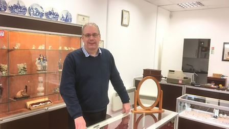 Philip Barulis, owner of Philip John Jewellers in Great Yarmouth, which has moved across the road. P