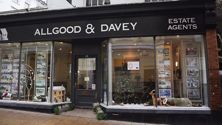 Allgood and Davy estate agents shop window - Christmas decorations or a Winter Wonderland? Picture: