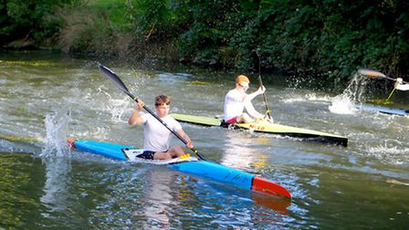 Young Norfolk Sports Academ kayak racer Tim Dowden, front. Picture: Submitted