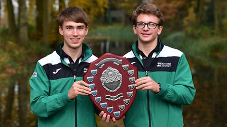 James How, right, and Tim Dowden from Langley School won the sprint and marathon categories in the N