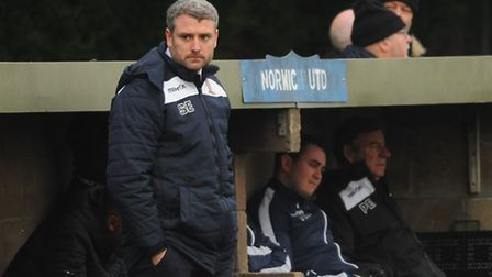 Steve Eastaugh's Norwich United side had a night to forget at Bowers & Pitsea. Picture: ARCHANT