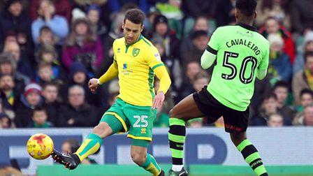 Ivo Pinto has made 32 appearances for Norwich City since joining last January. Picture by Paul Ches