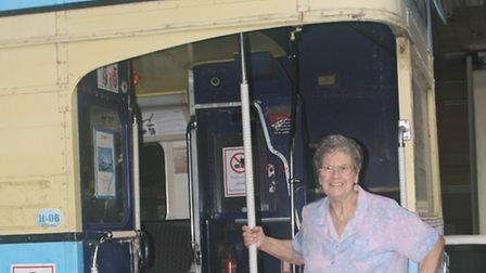 Doreen Johnson is reunited with the 8A in Thailand. Picture: Glenn Johnson