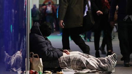 A Norwich woman has launched a coat rail appeal to help the homeless in Norwich. Picture: Yui Mok/PA