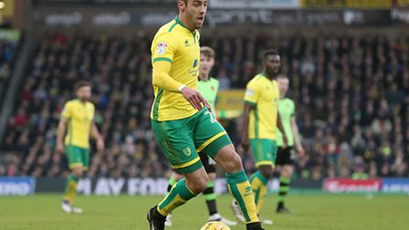 Ivo Pinto in action for Norwich City during last weekend's 3-1 win over Wolves at Carrow Road. Pictu