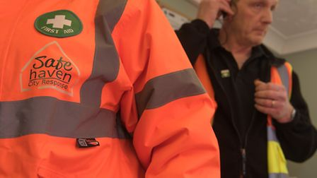 Helping ensure they safety of people in the city centre at night, staff and volunteers from Safe Hav
