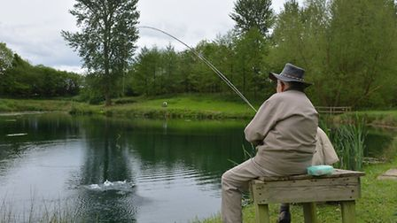 The Norfolk and Suffolk Flyfishers' Society lakes at East Tuddenham, near Norwich. Picture: Chris Bi
