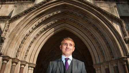 Jon Platt outside the Royal Courts of Justice in London, where he is challenging a fine issued for t