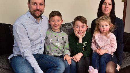 Dean Pierpoint with his wife Lorraine and children, Lola, Riley and Preston. Dean and his wife Lora