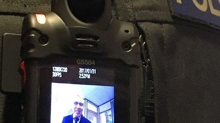 Picture of body-worn video camera to be worn by frontline officers in Norfolk and Suffolk. PIC: Subm