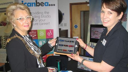 Employment Marketplace was held at Lowestoft College. Deputy Mayor, Mary Rudd, with Icanbea... exhib