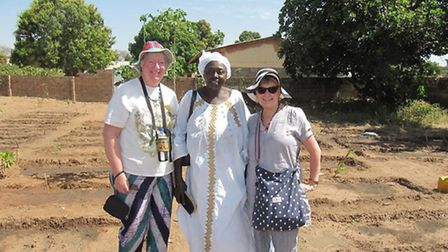 Janet Clark in The Gambia with charity co-worker Jane Moore. (Picture: Gambian Aid Through Education