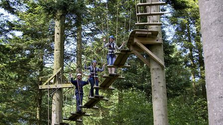Corporate guests on a team building exercise at Center Parcs