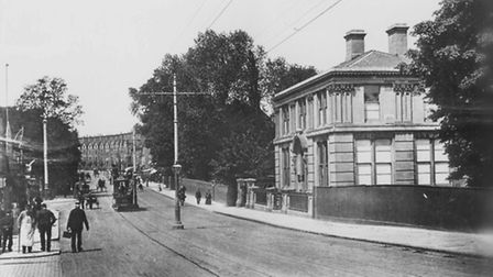 1. Initially lined with fine houses, this photograph looking up the road from the river is dated 190