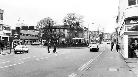 Prince of Wales Road, Norwich. Taken in March of 1985. Picture: Archant Library