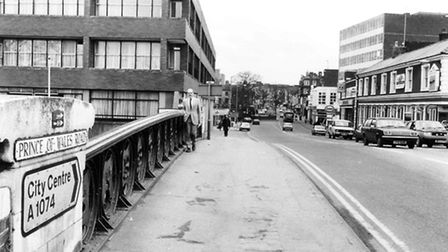 Prince of Wales Road taken at Foundry Bridge. Dated 26th March, 1985. Picture: Archant Library