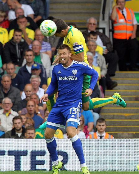Anthony Pilkington in action against City earlier this season. Photo: Paul Chesterton.