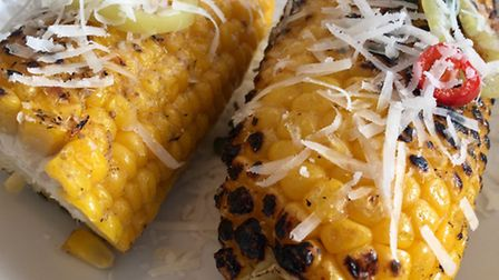 Darsham Nurseries chargrilled corn on the cob, October 2016