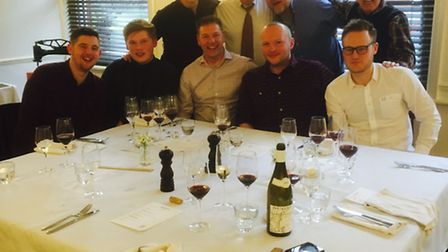 Richard Hughes' stag do at Benedicts in Norwich, March 2016