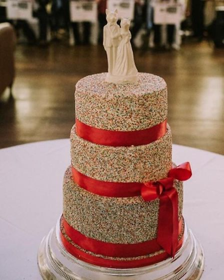 Wedding cake, April 2016 - we have permission to use this pic