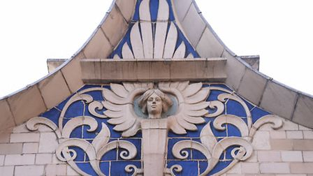 The outside decoration on the Royal Arcade. Picture: DENISE BRADLEY