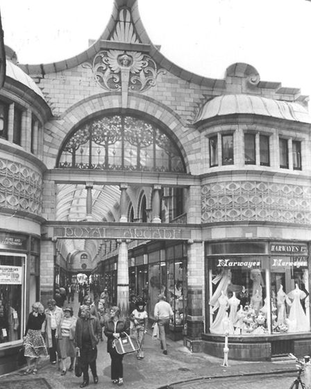 Norwich Streets -- RRoyal Arcade, Back of the Inns entrance.The Royal Arcade was designed by Geo