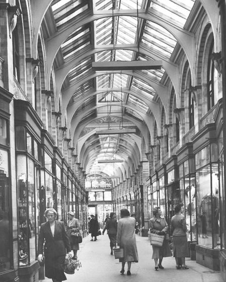 Norwich Streets -- RRoyal Arcade taken from the Gentlemen's Walk end.The Royal Arcade was design