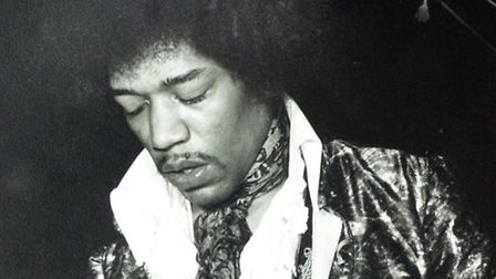 Jimi Hendrix photographed by Richard Snasdell in May 1967 at Spalding, Lincolnshire. ES 4 06 03 EA