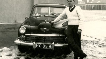 David Duggan with his 3.8-Litre American Studebaker on the base in Germany. Picture: supplied