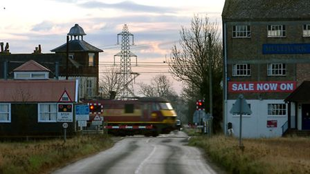 The level crossing at Mellis. Pic: Simon Parker.