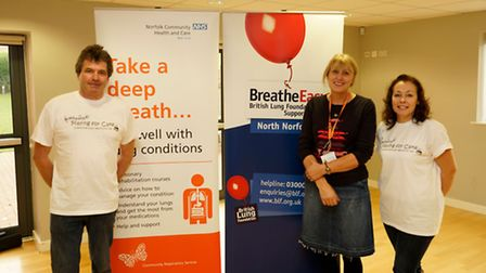 George Crawley (Director of Playing for Cake) on the left, Mandy Beresford (Community Respiratory Nu