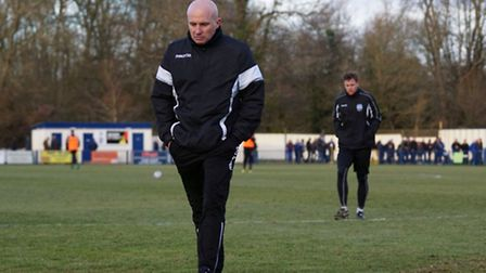Lowestoft Town boss Ady Gallagher is glad to be returning to Crown Meadow this afternoon. Picture: S