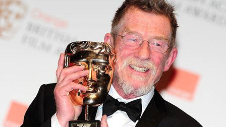 Sir John Hurt with the Oustanding Contribution to Cinema award in 2012