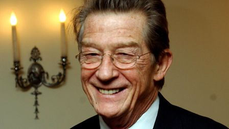 John Hurt arriving for the Evening Standard Theatre Awards at The Savoy in London