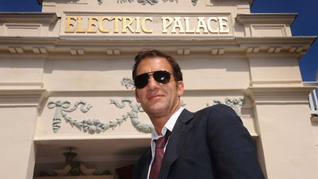 Clive Owen outside the Electric Palace