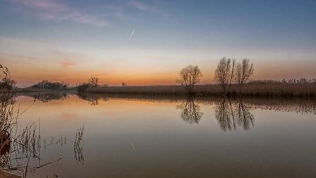 Sunset at Carlton Marshes by @terryjnewman