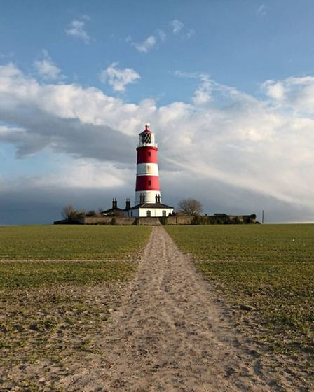 A nice perspective of Happisburgh Lighthouse by @alan_on_insta