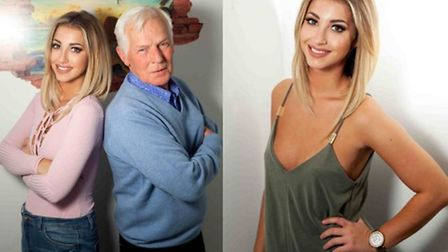 Paige, a former Dereham Sixth form pupil and her grandad Bob star in the new MTV series Spring Break