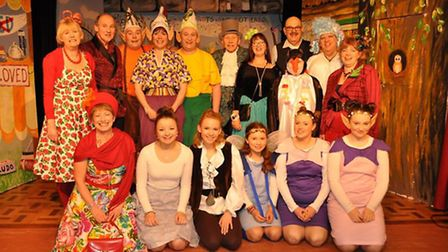 The cast of Jack and the Beanstalk at Cley panto. Picture: Martin Braybrook