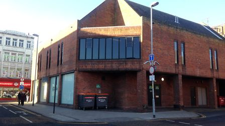 The area on the corner of Regent Road and Theatre Plain currently used for storing bins. Photo: Geor