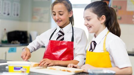 Students in a food technology lesson. Picture: Library