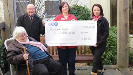 Pictured left to right: Marion Iles-Hunt, Leslie Iles-Hunt, Donna Snowden, of Queen Elizabeth Hospit