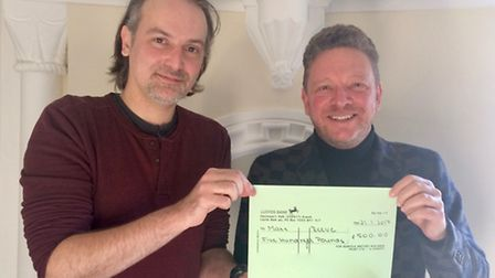 Artist Matt Reeve (pictured left) won Norfolk Historic Buildings Trust's competition to design a new