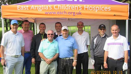 Thetford Golf Club donated �11,100 to East Anglia's Children's Hospices last year. Picutred are memb