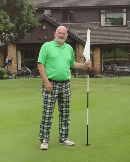 Philip Beer pictured at Thetford Golf Club, where he scored a hole-in-one in 2014. Picture: SUBMITTE