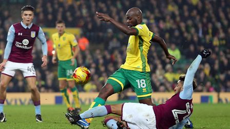 Youssouf Mulumbu is available again for Norwich after returning from the African Cup of Nations. Pic